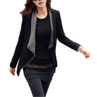 Qiaosha ZANZEA Women Lady Slim Blazer Coat Zipper Casual Long Sleeve Jacket Outwear - intl Price Philippines