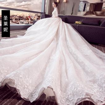 Qiudong bride wedding dress wedding veil (Train)