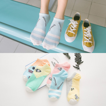 Qiudong Japanese-style deodorizing women's socks short socks (917 candy color short socks)