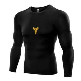 Qiudong men running fitness room slim fit clothing fitness clothing (B5021-black [Bryant models])