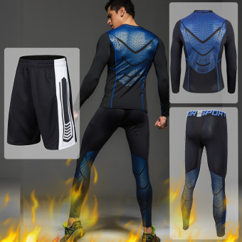 Qiudong outdoor Plus velvet cold warm sportswear pants (Lan Yin 3 piece (Plus velvet))