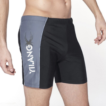 Quick-drying men's Plus-sized boxer swimming trunks