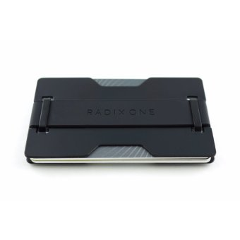 Radix One Slim RFID Blocking Wallet (Black Steel)