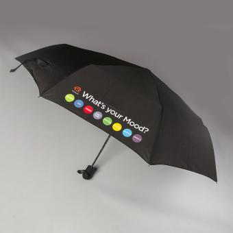 Rappler XChange Mood Meter Collection Umbrella (Black)