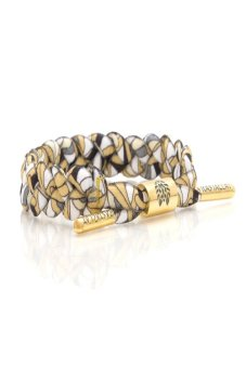 RASTACLAT Shoelace Bracelet Noodles (White/Gold/Grey) Price Philippines