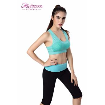 Rebecca For Her Sexy STYLISH Sports Bra; Ladies Cross Back Suitable For Fitness; Yoga, Jogging, Zumba,Gym (GREEN)