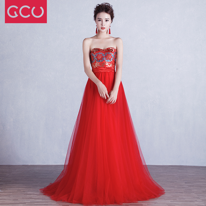 Philippines | Red fashion boob tube top wedding dress wedding veil ...