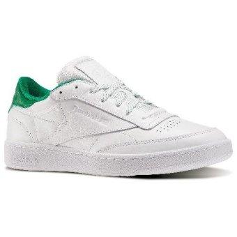 reebok x uo club c sneaker. reebok club c 85 el tennis shoes (white/glen green) x uo sneaker