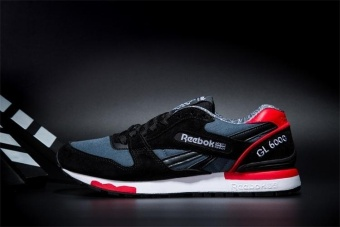 Reebok Mens Casual Shoes GL6000 Sports Shoes Running Shoes ReebokClassical Walking Shoes (black red) - intl