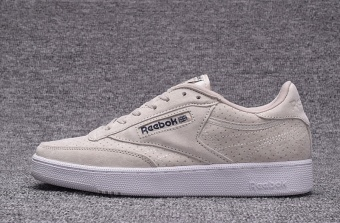 Reebok Mens Casual Shoes Nubuck Suede Loafer Shoes Reebok Club C New Fashion Skateboard Shoes(beige) - intl