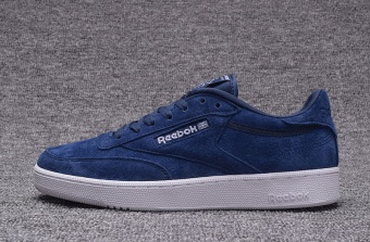 Reebok Mens Casual Shoes Nubuck Suede Loafer Shoes Reebok Club C New Fashion Skateboard Shoes(dark Blue) - intl