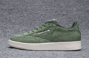 Reebok Mens Casual Shoes Nubuck Suede Loafer Shoes Reebok Club CNew Fashion Skateboard Shoes(army green) - intl