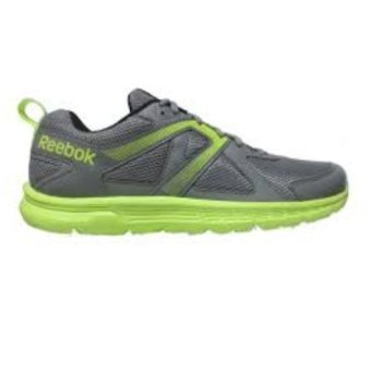Reebok Run Supreme Running Shoes (Flat Grey/SolarYellow/White/Black) - 5
