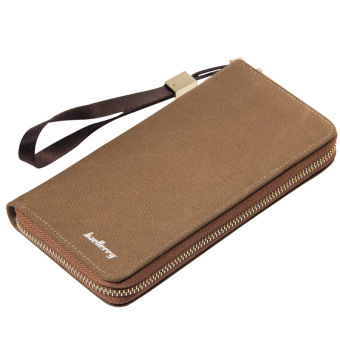 Retro men's long single zipper wallet (Solid color PARK'S color)