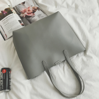 Retro New style Japanese and Korean style different size bags big bag (Gray) (Gray)