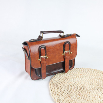 Retro New style messenger bag women's bag (Brown)