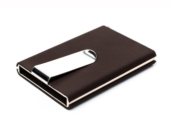 RFID Blocking Automatic Credit Card Holder Business Card Holder Quilted Card Holder Waterproof Credit Card Money Cash Clip Case Pocket Box Business ID Card Holder Cover - intl - 3