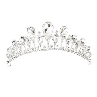 Rhinestone Bridal Tiara (White)