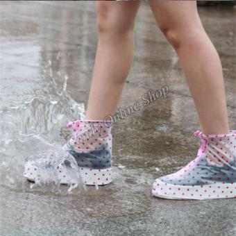 Rising Star Waterproof Non-slip rain shoe covers (Pink) - 3