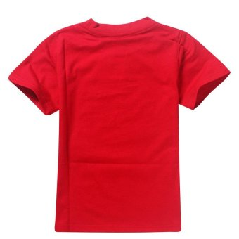 ROBLOX Boys' 105-155cm Body Height Cotton T-shirts(Color:Red) - intl - 3