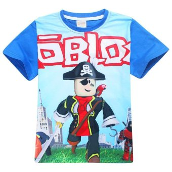 ROBLOX Boys' 105-155cm Body Height Cotton T-shirts(Color:Red) - intl - 5
