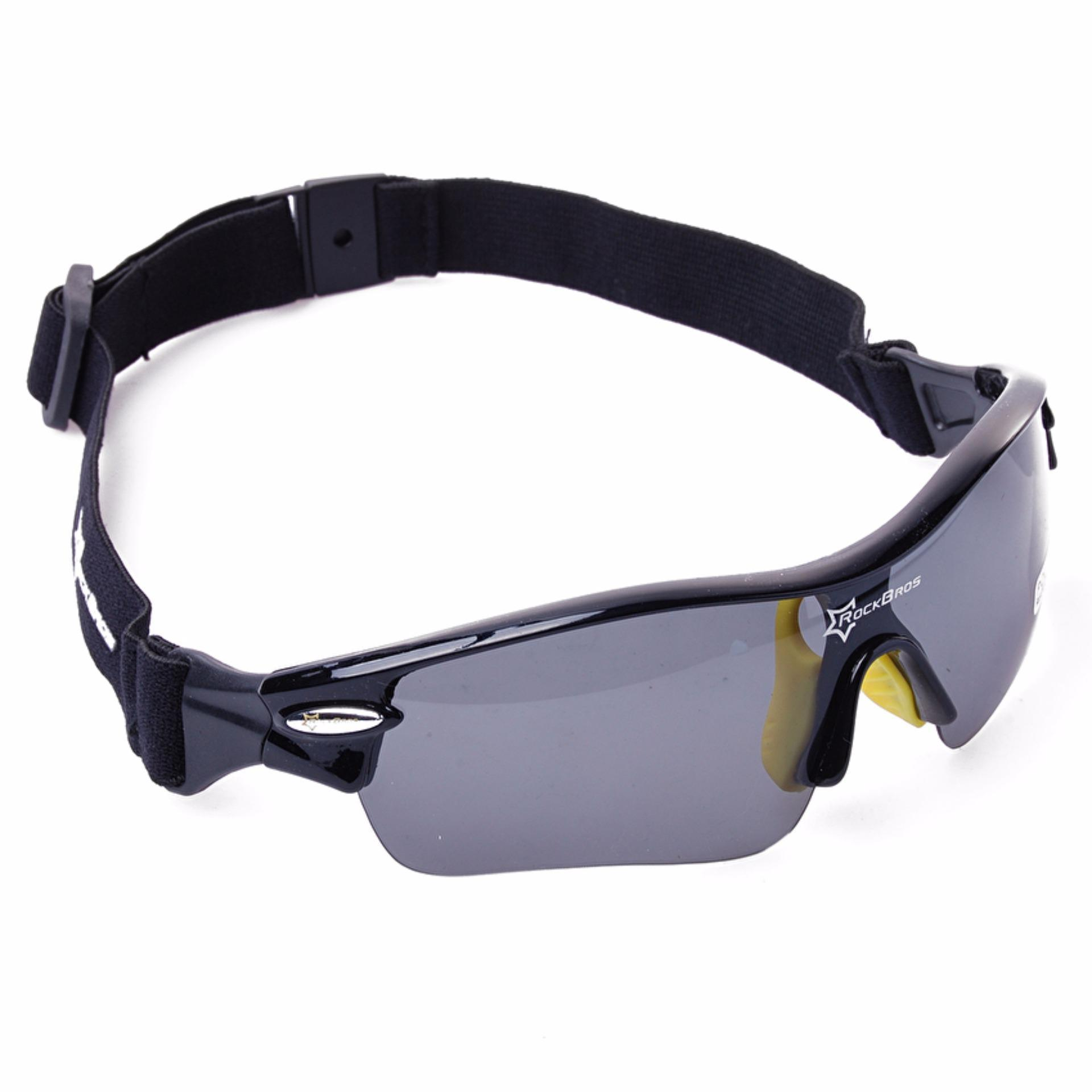 ... RockBros Polarized Cycling Sports Sunglasses with 5 Pairs of Lenses(Yellow) - intl ...