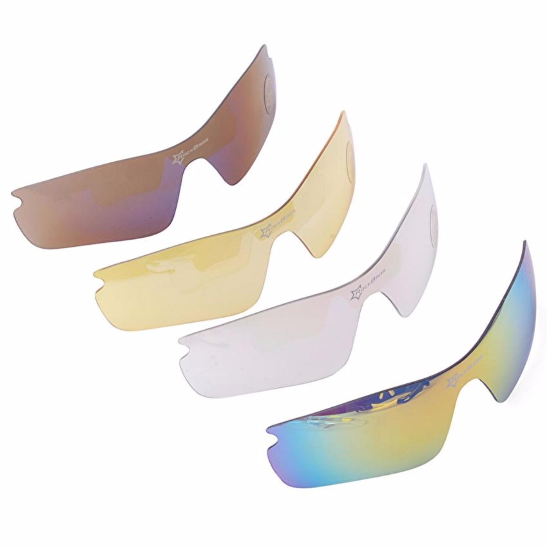 ... RockBros Polarized Cycling Sports Sunglasses with 5 Pairs of Lenses Yellow intl