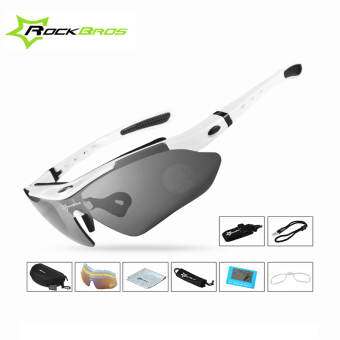 RockBros Polarized Cycling Sun Glasses Outdoor Sports Bicycle Bike Sunglasses TR90 Goggles Eyewear 5 Lens Bicycle Accessory -02 - intl