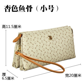 Rolls Shuai special women's business clutch bag (Beige fish bone small)