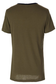 Round Neck Slimming T-Shirt (Brown) - picture 2