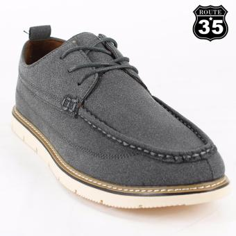 ROUTE35 Brock Formal Lace-ups Casual Business Suede Leather Shoes (Gray 8008)
