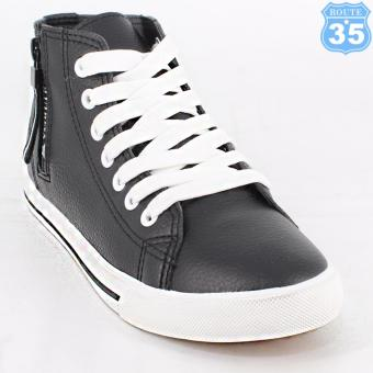 ROUTE35 Corinne Sneakers High Cut Shoes (Black L5386)