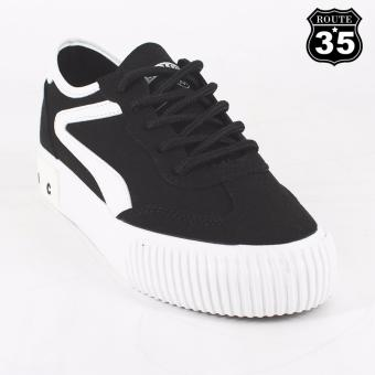 ROUTE35 Genevieve Sneakers Rubber Shoes (Black B6390)