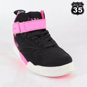 ROUTE35 Litzy SUPRA Sneakers Rubber Shoes (Black-Pink 326)