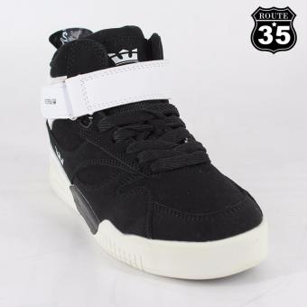 ROUTE35 Litzy SUPRA Sneakers Rubber Shoes (Black-White 326)