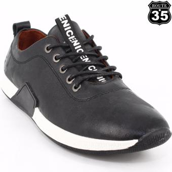 ROUTE35 Moffett Low Cut Sneakers Rubber Shoes (Black T-001)