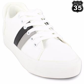 ROUTE35 Pernille Sneakers Low Cut Shoes (White Black H17062)