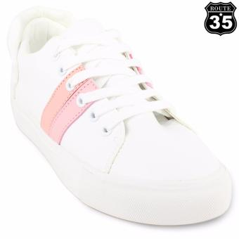 ROUTE35 Pernille Sneakers Low Cut Shoes (White Pink H17062)