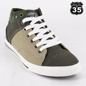 ROUTE35 Rufus Sneakers High Cut Men's Rubber Shoes (Army GreenA3003)
