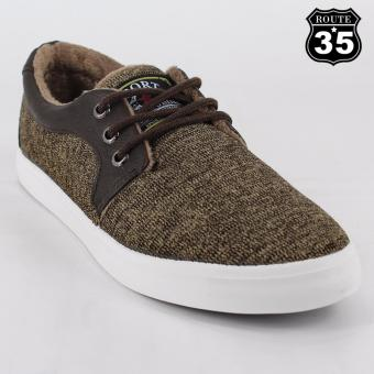 ROUTE35 Stanley Sneakers Men's Rubber Shoes (Brown E6697)
