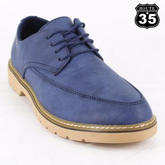 ROUTE35 Theo Formal Lace-ups Casual Business Leather Shoes (Blue 2262)