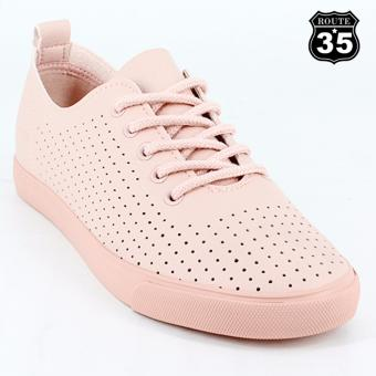 ROUTE35 Vivian Lace-up Sneaker Rubber Shoes (Pink H17158)