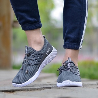 Running Sneakers Men Zapatillas Deportivas Hombre Free Run for Mens Trainers Sports Jogging Homme Lightweight Comfortable Shoes(Grey) - intl - 2