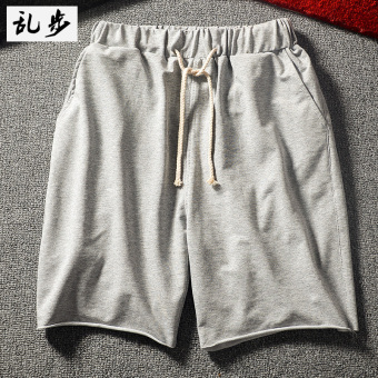 RuSH male deer celebrity inspired shorts (DK002 shorts gray)