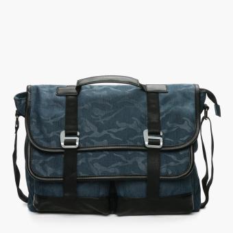 Salvatore Mann Daegan Messenger Bag (Blue)