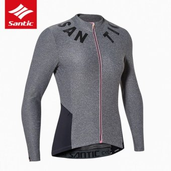 Santic Antu-UV Women Long Sleeves Cycling Jerseys Breathable Cycling Clothing Comfortable Bicycle Tops Bike Clothes Spring Summer - intl - 5