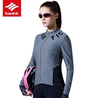 Santic Antu-UV Women Long Sleeves Cycling Jerseys Breathable Cycling Clothing Comfortable Bicycle Tops Bike Clothes Spring Summer - intl