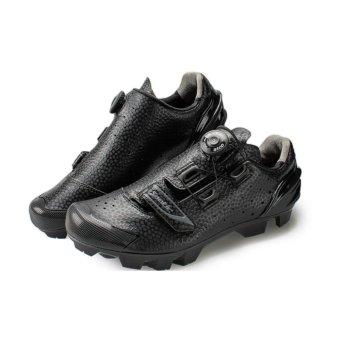 Santic Men Ultra Fiber Self-locking Professional Mesh MTB ShoesCycling Shoes Black Breathable Nylon TPU Strong Sole Auto-LockMountain Bike Shoes Sport Shoes Riding Equipment - intl - 3