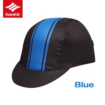 Santic Spring Summer Outdoor Sports Cycling Cap Men Women Anti-UVBreathable Topee Bicycle Racing Bike Sunhat Cycling Caps, Blue -intl