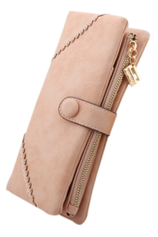 Sanwood Bifold Button Clutch Pink